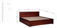 Nashville Queen Bed with storage in Honey Oak Finish by Woodsworth