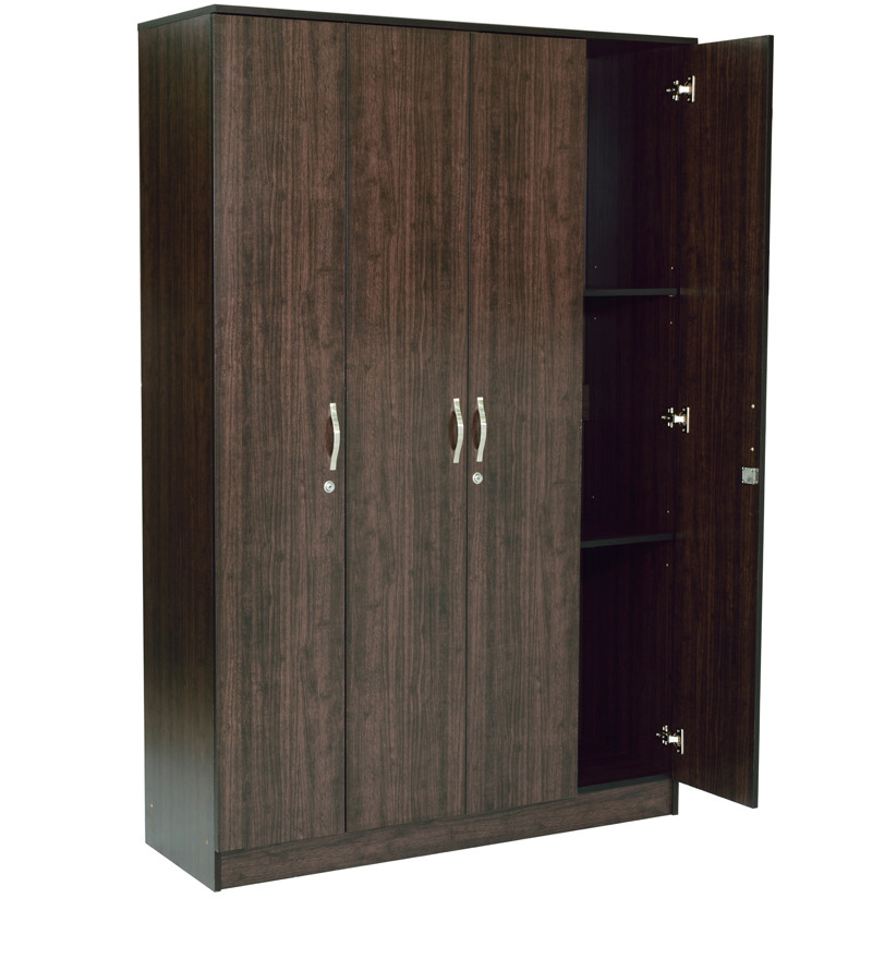 four door wardrobe in wenge finish by mintwud by mintwud. Black Bedroom Furniture Sets. Home Design Ideas