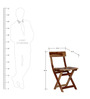 Fife Solid Wood Folding Chair in Natural Sheesham Finish by Woodsworth