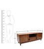 Fontana Teak Wood Entertainment Unit in Natural Teak Finish by Finesse