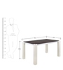 Fortis 4 Seater Dining Table by @Home Nilkamal