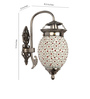 Fos Lighting  Silver Brass & Glass Wall Light