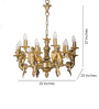 Fos Lighting Gold Brass Chandelier