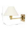 Fos Lighting Single Shade Uplighter Wall Mounted Light