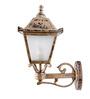 Fos Lighting Upward Single Shade Vintage Golden Outdoor Wall Light