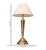 Fos Lighting White Brass Table Lamp