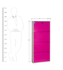 Four Door Powder Coated Metallic Shoe Rack in Fuschia Colour By DELITE KOM