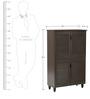 Jurou Four Door Shoe Cabinet in Two Tone Wenge Finish by Mintwud