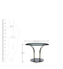 Four Seater Designer Round Dinning Table in Black Colour by Parin