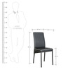 Four Seater Dining Set in Black & White Colour by Parin