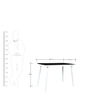 Four Seater Dining Table with Black Top and White Legs by Parin