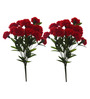 Fourwalls Red Tall Artificial Carnation 18 Flowers Bunch Set