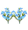 Fourwalls Blue Artificial Lily Flowers - Set of 2