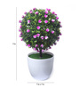 Fourwalls Purple Synthetic Miniature Table Top Artificial Topiary Plant with Vase
