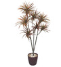Fourwalls Red & Green Polyester Decorative Artificial Yucca Plant