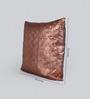 Foyer Brown Cotton 18 x 18 Inch Lira Cushion Cover