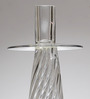 Foyer Transparent Blown Glass Candle Holder