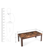 Fredo Coffee Table in Cherry & Brown Colour by Nilkamal
