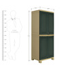 Freedom Big Storage Cabinet in Pastle Green & Olive Green Colour by Nilkamal