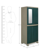 Freedom Wardrobe with Mirror in Olive Green & Pastle Green Colour by Nilkamal