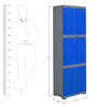 Freedom Mini Large Storage Cabinet in Blue & Grey Colour by Nilkamal