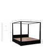 Freemont King Poster Bed In Espresso Walnut Finish by Woodsworth