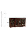 Fremont Crockery Cabinet in Mahogany Finish by The ArmChair