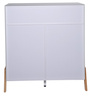 Fressia Side Cabinet in White and Walnut Finish by Evok