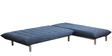 Furny L shaped Sofa bed in Aqua Blue colour by Furny