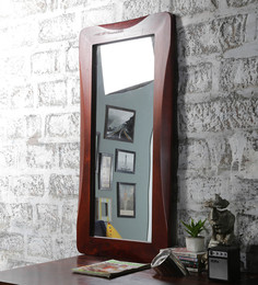 Furniselan Oak Mango Wood Framed Mirror - 1560729