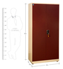 Fully Podwer Coated Metallic Two Door Wardrobe in Ivory & Red Color by Delite Kom