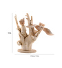 Furncoms Brown Wooden 1 Flying Owl with 4 Owl Showpiece