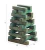 Furnicheer Green Mango Wood Pyramid Showpiece