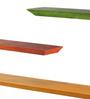 Furnicheer Multicolour Mango Wood Subhan Wall Shelf - Set of 3
