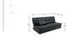 Gaiety Luxurious Sofa cum Bed in Black Colour by Furny