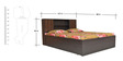 Crysler Queen Bed with Jumbo Drawer in Wenge Colour by Crystal Furnitech