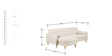 Gansel L Shape Sofa in Beige Colour by Madesos