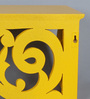 Gabor Eclectic Wall Shelf in Yellow by Bohemiana