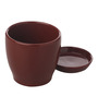 Gaia Brown Cermaic Glazed Table Top Planter