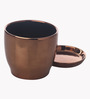 Gaia Copper Cermaic Glazed Table Top Planter