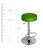 Garry cafeteria cum Bar Stool in Green Colour by The Furniture Store