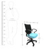 Geneva Desktop Chrome Office Ergonomic Chair in Black & Sky Blue Colour by Chromecraft