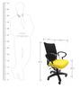 Geneva Desktop Chrome Office Ergonomic Chair in Black & Yellow Colour by Chromecraft