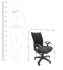Geneva Desktop T Black Office Ergonomic Chair in Black Colour by Chromecraft