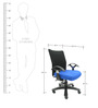 Geneva Desktop T Black Office Ergonomic Chair in Dark Blue Colour by Chromecraft