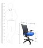 Geneva Desktop WW Office Ergonomic Chair in Dark Blue Colour by Chromecraft