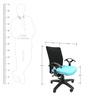Geneva Office Ergonomic Chair in Black & Sky Blue Colour by Chromecraft