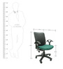 Geneva Office Ergonomic Chair in Green Colour by Chromecraft