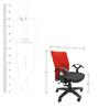 Geneva Office Ergonomic Chair in Red & Black Colour by Chromecraft