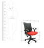 Geneva Office Ergonomic Chair in Red Colour by Chromecraft